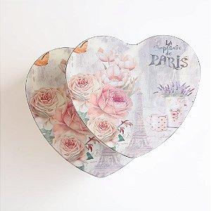 Caixa metálica - Coração