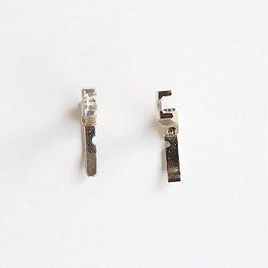 Calcador para zíper unilateral (máquina reta industrial) - conjunto direito + esquerdo