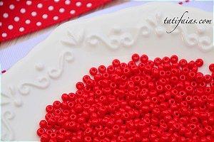 Miçangão vermelho Jablonex/Preciosa (pacote com 90g)