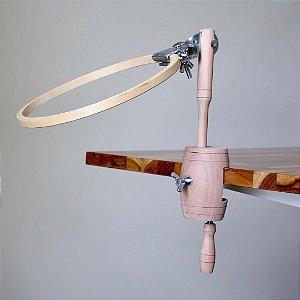 Bastidor para bordar com suporte de mesa