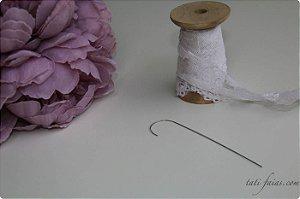 Agulha curva para potinho giratório (kit com 3 unidades)
