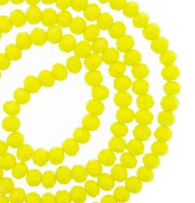 Fio de cristal facetado amarelo - 8mm