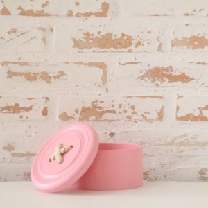 Caixa botão porta treco - rosa