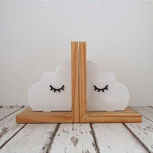 Aparador de Livros - Nuvem branca