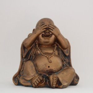 Buda decorativo - em resina