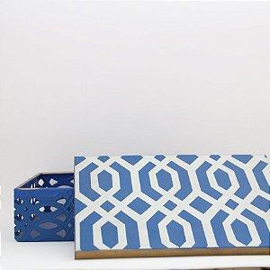 Caixa metálica - azul