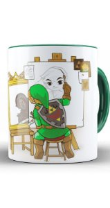 Caneca Legend of Zelda: Link Great Designer - Nerd e Geek - Presentes Criativos