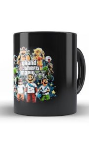 Grand Theft Mario V -GTA - Nerd e Geek - Presentes Criativos