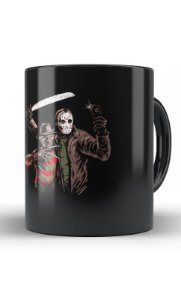 Caneca Jason vs Fred - Nerd e Geek - Presentes Criativos