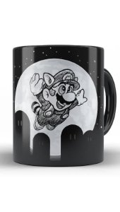 Caneca Super Mario Night - Nerd e Geek - Presentes Criativos