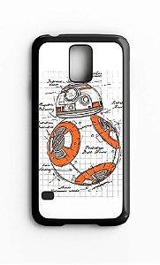Capa para Celular Star Wars BB-8 Galaxy S4/S5 Iphone S4