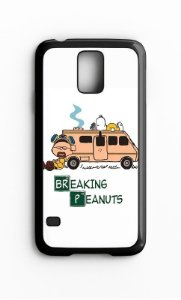 Capa para Celular Breaking Penuts Galaxy S4/S5 Iphone S4 - Nerd e Geek - Presentes Criativos