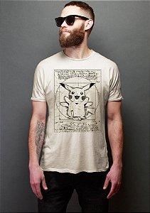 Camiseta Masculina  Pokemon Pikachu - Nerd e Geek - Presentes Criativos