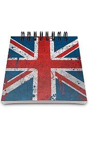 Bloco de Anotações Bandeira Reino Unido  Presentes Criativos