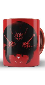 Caneca Metroid Mother Brain - Nerd e Geek - Presentes Criativos