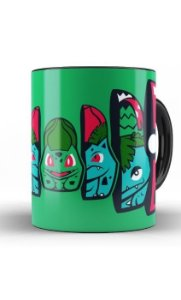 Caneca Anime Pokemon Bulbasaur Pokeball - Nerd e Geek - Presentes Criativos