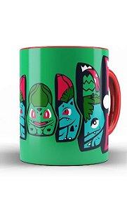 Caneca Anime Pokemon Bulbasaur Pokeball - Nerd e Geek - Presentes Criativos