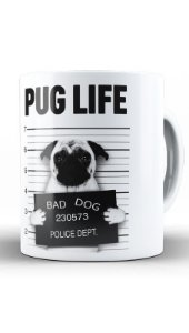 Caneca Pug Life