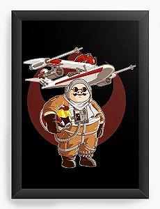 Quadro Decorativo A3 (45x33) Anime Porco Rosso Pilot