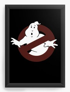 Quadro Decorativo A3 (45x33)  Caça Fantasma Ghostbusters