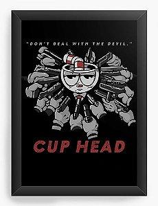 Quadro Decorativo A3 (45x33) CUP HEAD E MUMGMAN