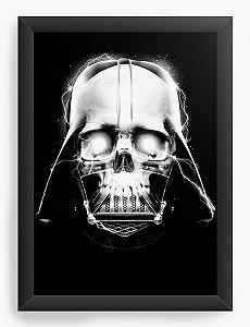 Quadro Decorativo A3 (45x33) Darth Skull