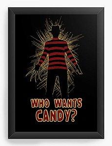 Quadro Decorativo A3 (45x33) Freddy Krueger, Who wants candy?