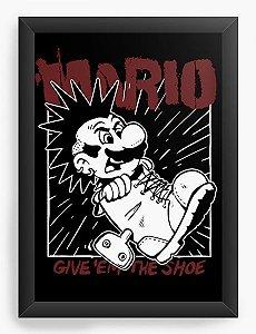 Quadro Decorativo A3 (45x33) Mario Punk