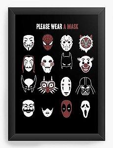 Quadro Decorativo A3 (45x33) Mask