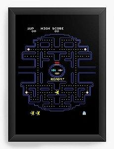 Quadro Decorativo A3 (45x33) Pac Man