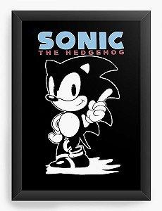 Quadro Decorativo A3 (45x33) Sonic The Hedgehog