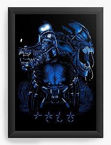 Quadro Decorativo A4 (33X24) Aliens vs Predador