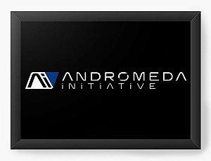 Quadro Decorativo A4 (33X24) Andromeda Mass Effect