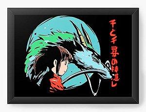Quadro Decorativo A4 (33X24) Anime A Viagem de Chihiro Spirited Away