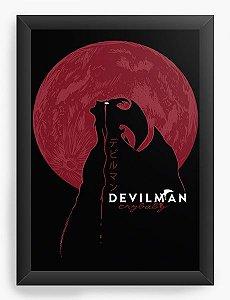 Quadro Decorativo A4 (33X24) Anime Devilman Crybaby Moon