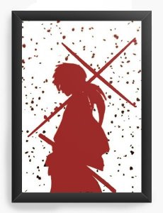 Quadro Decorativo A4 (33X24) Anime Samurai X