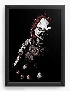 Quadro Decorativo A4 (33X24) Boneco Assassino