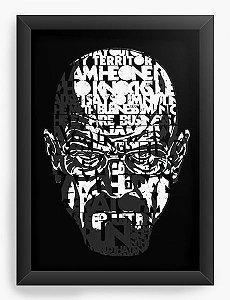 Quadro Decorativo A4 (33X24) Breaking Bad Heisenberg