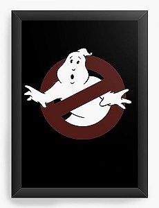 Quadro Decorativo A4 (33X24)  Caça Fantasmas Ghostbusters