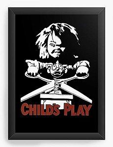 Quadro Decorativo A4 (33X24) Chucky Childs Play