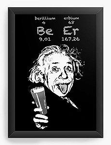 Quadro Decorativo A4 (33X24)  Cientista ALBERT EINSTEIN