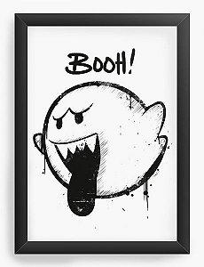 Quadro Decorativo A4 (33X24) Fantasma Mario Bros