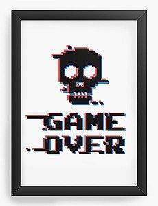 Quadro Decorativo A4 (33X24) Game Over