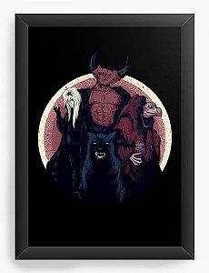 Quadro Decorativo A4 (33X24) Hellboy