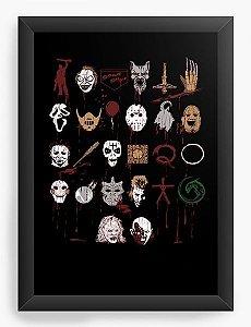 Quadro Decorativo A4 (33X24) Horror
