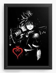 Quadro Decorativo A4 (33X24) Kingdom Hearts