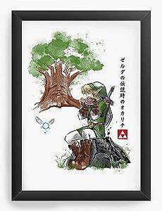 Quadro Decorativo A4 (33X24) Legend of Zelda