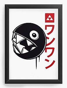 Quadro Decorativo A4 (33X24)  Legen of Zelda Bomb