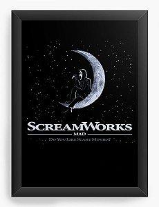 Quadro Decorativo A4 (33X24) Pânico Scream Works