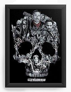 Quadro Decorativo A4 (33X24) Série The Walking Dead